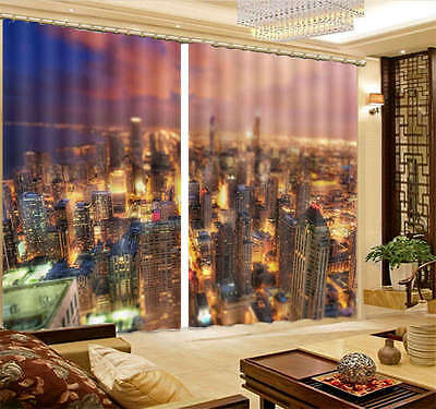 1Ablaze With Lights 3D Curtain Blockout Photo Print Curtains Fabric Window