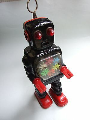 KO JAPAN HIGH WHEEL ROBOT SPACE TOY WIND UP  VINTAGE 1960's