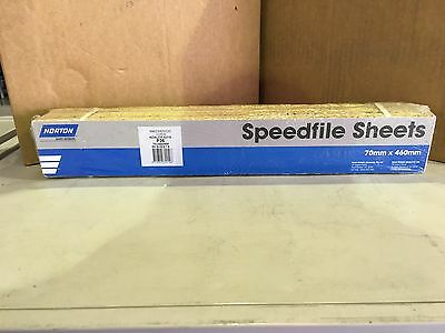 Norton Speedfile Sanding Sheets P36G. (70mm x 460mm). Pack Of 50.