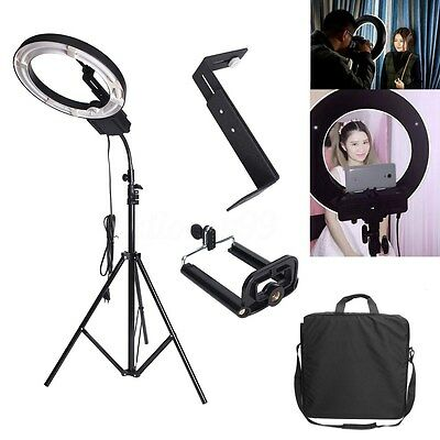 AU 40W 5400K Ring Light Lamp For Video Photo With Diffuser Light Stand Holder