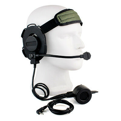 Neu Z-Tactical Bowman Elite II Headset mit PTT für Kenwood 2 Pin-Radio w/ track
