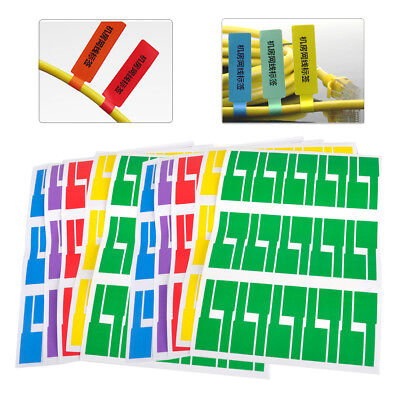 10 Sheets 300pcs Self-adhesive Cable Labels Identification Markers Tags Sticker