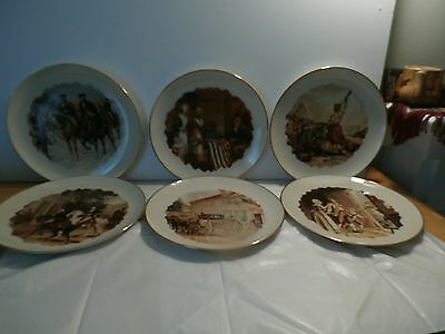 John Ward Dunsmore vintage plate Set the museum collection 6 plates