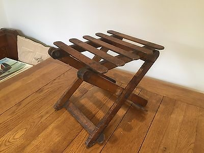 Antique Wooden Folding Stool