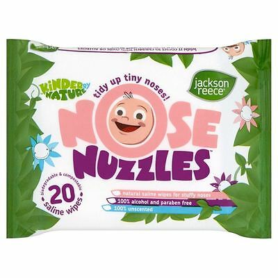 Jackson Reece Nose Nuzzles Kinder By Nature Natural Baby Wipes - 20 Saline Wipes