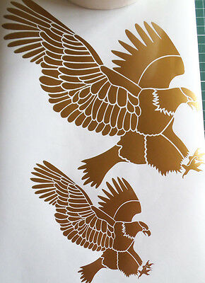 Golden Eagle/ wings vinyl stickers, decals, for car, window