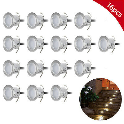 Recessed LED Deck Lighting Kits Outdoor Garden Pool Deck Warm White Detachable