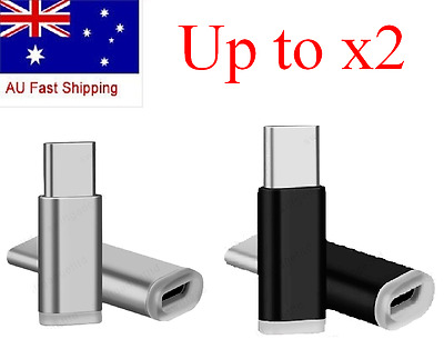 Aluminum Micro USB to USB-C Type-c Adapter Converter for Samsung Galaxy S8 S8+