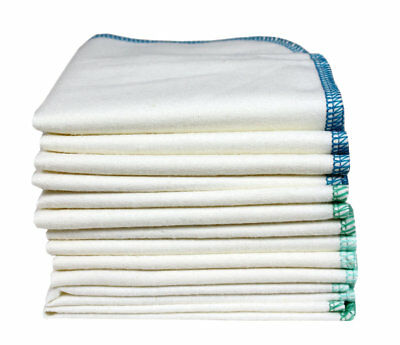 12 x Organic Cotton Washable Cloths for Nappy Changes