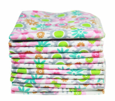 Washable Baby Cloths (12 x Pack) for Wiping Mucky Hands & Faces