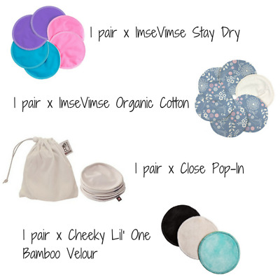 Trial Pack of Breast & Nursing Pads (4 Pairs) with FREE Mesh Wash Bag