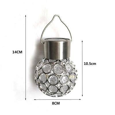 Solar Garden LED Light 7-Color Changing Lamp Hanging Outdoor Lights Ball