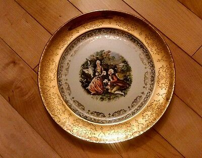 "8""DERWOOD PLATE W S GEORGE CREST O GOLD 22 KARAT 189b collector"