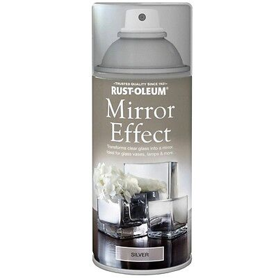 Reflective Mirror effect spray paint, Silver, Chrome, Fast Dry, Gloss 150ml