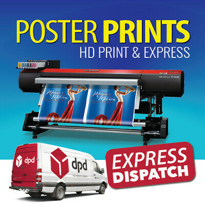 Full Colour Poster Print / Printing Service A0 A1 A2 A3 / FREE NEXT DAY DELIVERY