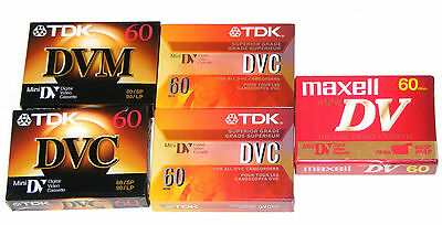 TDK JVC DVC DVM 60 min BLANK TAPES Brand NEW Sealed digital video Mini DV LOT 8