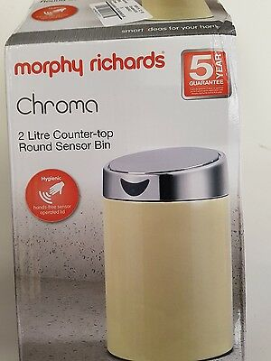 Morphy Richards 971482 Counter-Top Chroma Sensor Bin 2 Litre Cream