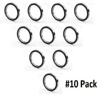 10 pcs 6904 2RS double rubber sealed ball bearing 20 x 37x 9 mm