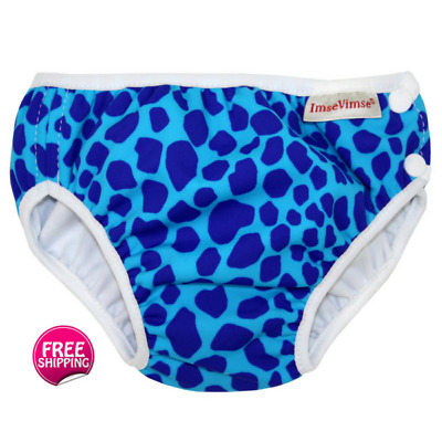 Popular Blue Leopard Swim Nappy for Baby & Toddler - 6 x Sizes