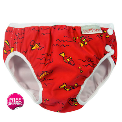 Boys and Girls Swim Nappy Red Fish - Leakproof Design