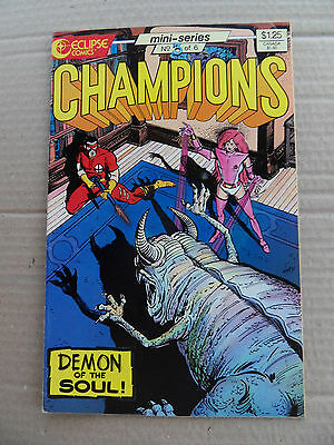Champions (game) 3 of 6 . Eclipse 1986 - VF - minus