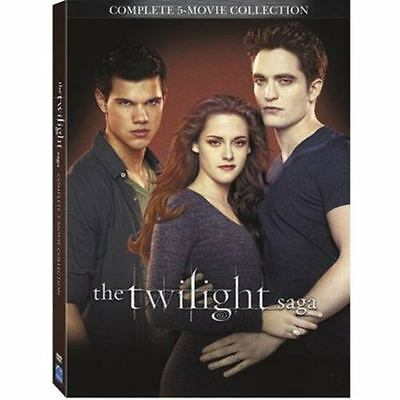The Twilight Saga Complete 5-Movie Collection (DVD,2016,2-Disc Set)  Fast Ship