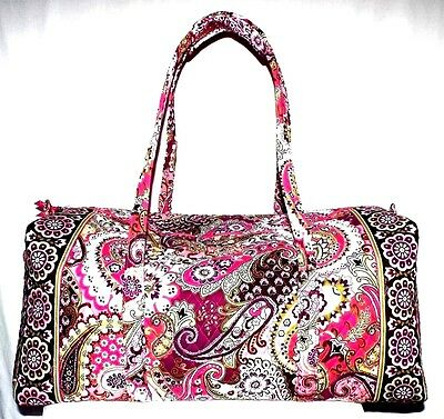 New Vera Bradley Extra Large Duffel Very Berry Paisley
