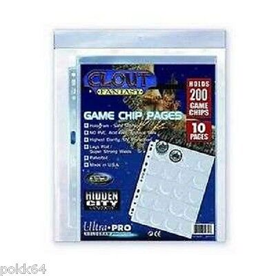 Ultra Pro pack 10 pages de 20 pochettes jetons 200 Game Chips 20-Chips 818210