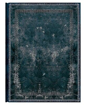 """Paperblanks Journal """"Midnight Steel"""" Classics LINED Ultra 7x9"""" Book Writing New"""