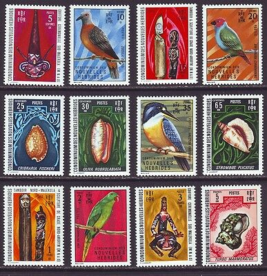 New Hebrides French 1972 SC 174-185 MNH Set