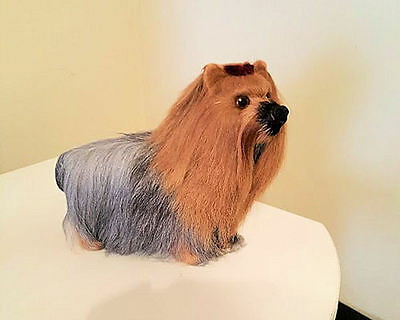 Yorkshire Terrier Collectible Goat Hair Dog Yorkie Handmade LAST TWO!