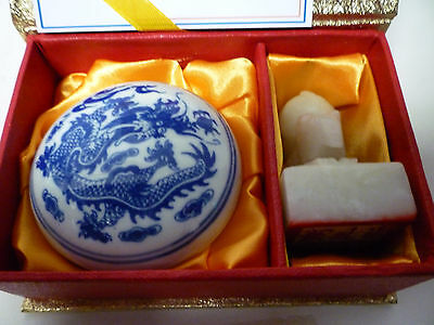 Carved Chinese Stone Year Rat Seal Stamp Dish Wax Engraved Personalised Nicola