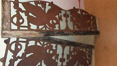 """Antique Cast Iron american eagles Window Gates 14"""" x 48"""" each - Will Seperate"""