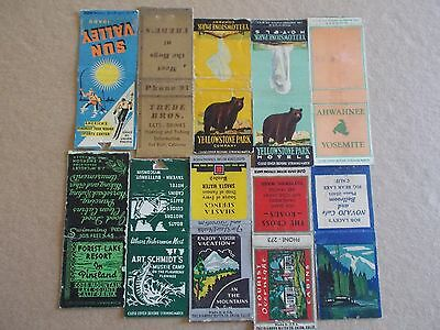 Vintage Old 1930s 40s USA Mountain Advertising Matchbook Cover Lot FREE SHIP