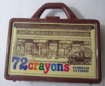 Vintage Brown F.W. Woolworth Co. Plastic Crayon Box (No Crayons)