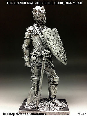 French king John II the Good  1356, Tin toy soldier 54 mm, figurine, sculpture