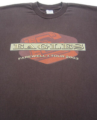 THE EAGLES Farewell I 2003 Tour LARGE concert T-SHIRT