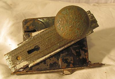 antique door handle knob and lock mechanism for parts