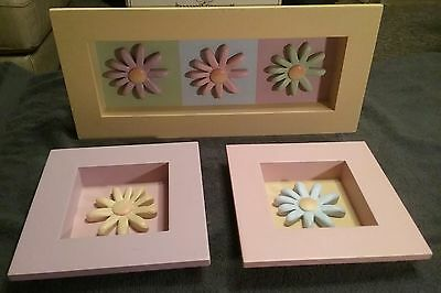 Home Interior Made Exclusively For Kids Flower Picture 3 Piece Set NICE