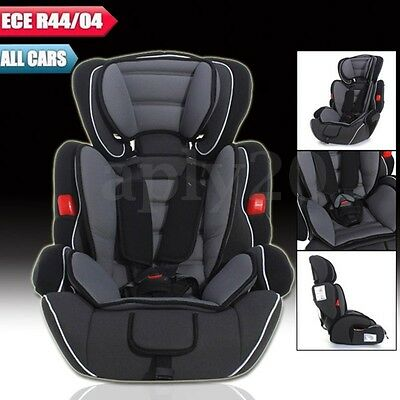 Black Convertible Baby Children Car Seat & Booster Seat Group 1/2/3 9-36 kg AU