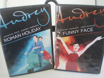 Audrey 2 DVDs -- Roman Holiday & Funny Face Hepburn Gregory Peck Fred Astaire
