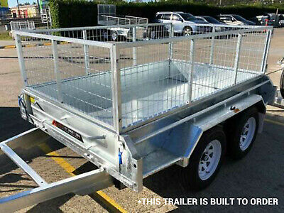 10x5 Tandem Trailer FREE CAGE Dual Axle Hot Dip Gal Electric Brake Brisbane QLD