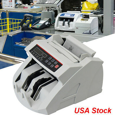 Money Bill Counter Machine Cash Counting Counterfeit Detector UV/MG Bank Checker