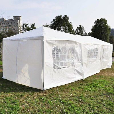 10'x30'Canopy Party Wedding Outdoor Tent Gazebo Pavilion Cater Events White Tent