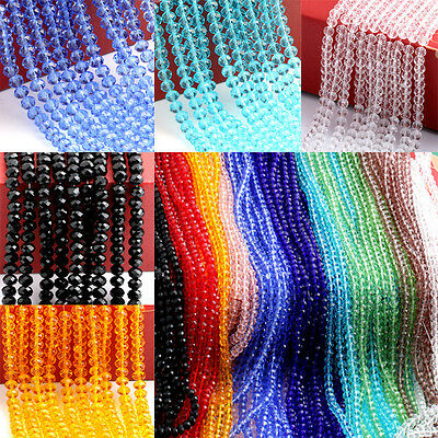 150PCS 4mm Austrian Round Crystal Loose Spacer Beads Jewelry Making Bracelet DIY