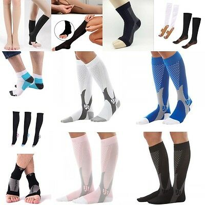 Anti-Fatigue Compression Socks Stockings Graduated Support Men's Women's (S-XL)