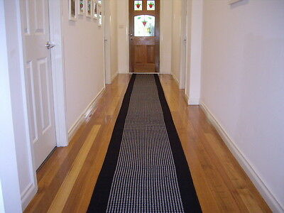 Hallway Runner Hall Runner Rug 3 Metres Long Modern Blk Grey FREE DELIVERY 47411