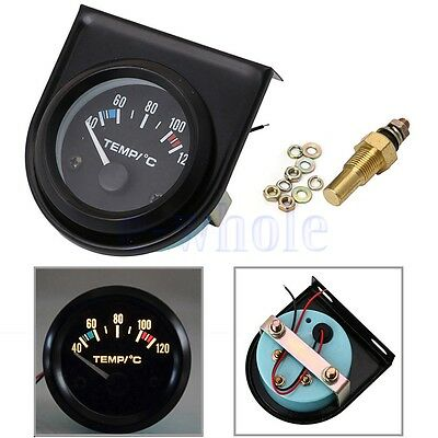 2'' 52mm Universal Car Pointer Water Temperature Temp Gauge Meter 40-120℃ LED DT