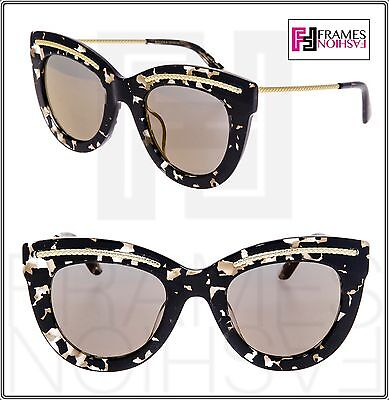 cf9203069c4 BOTTEGA VENETA Fashion BV0030S Black Marble Gold Mirrored Sunglasses 0030