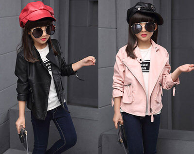 Girls PU Biker Jacket